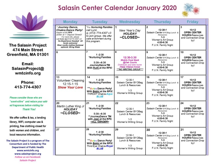 January 2020 Calendar
