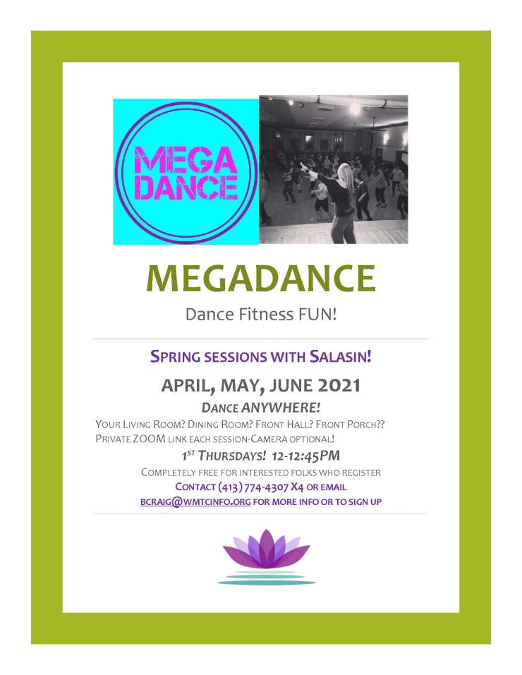 Spring 2021 MEGAdance flyer