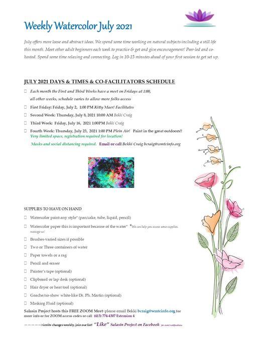 watercolors July